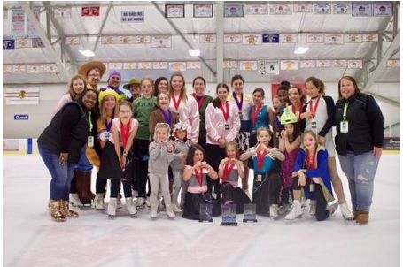 group shot of ice skaters