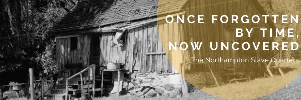 "A black and white image of a historic house with ""once forgotten by time now uncovered"" writte"