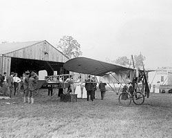 Blériot Outside Hanger
