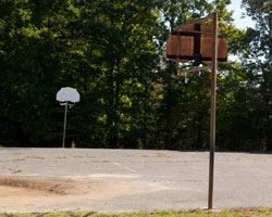 Outdoor basketball court at Indian Queen Recreation Center
