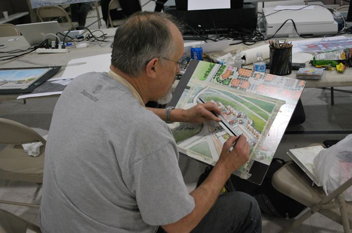 Community Charrette Consultant Renderings Being Produced